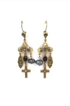 Jeune Colette Turquoise Cross Earrings | Cross earrings, Piercing ...