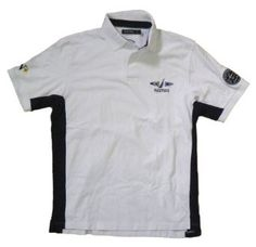 Nautica Men's Sailing Club Embroidered Polo Shirt (White) #nautica #sailing #sail #polo #poloshirt #embroidered #shirt