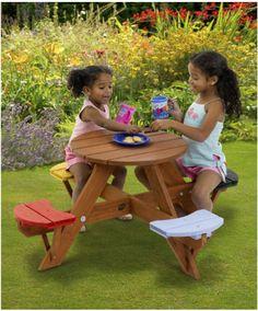 Plum Childrens Garden Picnic Table