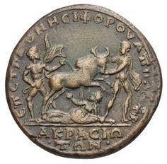 Akrasos: Schleifung der Dirke. 193-211 n. Chr. Münzkabinett der Staatlichen Museen Berlin.