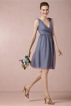 product | Rosalie Bridesmaids Dress in steel blue from BHLDN