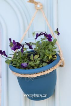 DIY tall outdoor planter