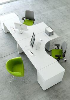 Vigo bench werkplek – Home Office Design Layout Corporate Office Design, Office Table Design, Office Space Design, Modern Office Design, Office Furniture Design, Office Interior Design, Office Interiors, Home Interior, Office Workspace