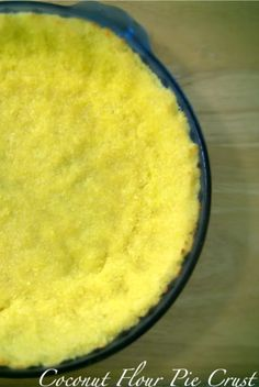 Coconut Flour Pie Crust   Ingredients-  1/2 cup Grass Fed Butter, Melted  2 Eggs, Preferably Local Pastured  1/4 Teaspoon Sea Salt {where to buy salt}  3/4 Cup Coconut Flour {where to buy coconut flour}  1-3 Tablespoons Raw Honey (optional)