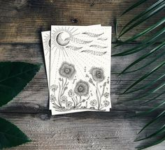 Hand drawn Greeting Card/ Post card with Floral design (Print) Post Card, Handmade Items, Handmade Gifts, Hand Drawn, Floral Design, How To Draw Hands, Greeting Cards, Ink, Etsy
