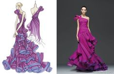 Fashion Designers Sketch Katniss' Dress of Fire [PHOTOS] | The official entertainment news site of American Idol host and American Top 40 on air radio personality! Description from polyvore.com. I searched for this on bing.com/images