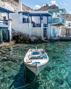 - Passione Grecia - [🇬🇧Fisherman's house in Milos island, Cyclades] 👉🏻. Greek Islands To Visit, Best Greek Islands, Greece Islands, Greek Islands Vacation, Most Beautiful Greek Island, Beautiful Islands, Beautiful Places, The Places Youll Go, Places To Go