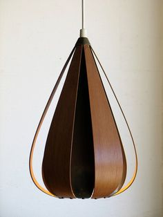 Mid Century Danish Modern Pendant Light. This could be made.