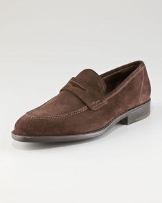 9e267a444540 Best Foot Forward  Men s Shoes  Atlas Suede Penny Loafer by Salvatore  Ferragamo