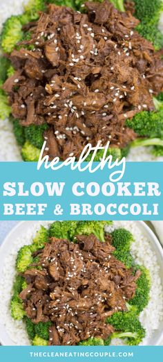 This Healthy Beef and Broccoli is a delicious, paleo meal made in your crockpot or stovetop. Naturally and gluten free it has a delicious sauce that no one would ever know is clean eating! This recipe uses no cornstarch and is perfect for meal prep! Slow Cooker Beef Broccoli, Healthy Beef And Broccoli, Easy Clean Eating Recipes, Healthy Slow Cooker, Broccoli Beef, Healthy Gluten Free Recipes, Healthy Meal Prep, Slow Cooker Recipes, Healthy Eating