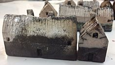Small Raku Houses, Mark Strayer, North Star Pottery