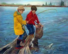 Fine Art Reproductions of Maurice Bernard Prince Edward Island, Canadian Artists, Art Reproductions, Fine Art, Illustration, Painting, Illustrations, Painting Art, Paintings