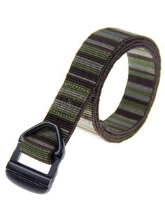 "Rockway 1.2 inch Wide Durable Nylon Belt with Eco-friend Black Aluminum Buckle (Medium). Extra soft jacquard nylon webbing, 1.2"" wide. Aircraft grade Eco-friend alumnium buckle, fasten securely. Super strong belt for tactical, outdoors, hiking. Size Reference: Medium(length-45"") fits waist sizes from 31-34 inches. A movable and detachable belt clip to secure the belt end."