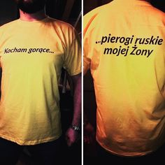 Zdjęcie koszulki nadesłane przez użytkownika :-) #tshirt #projektużytkownika #kocham #pierogi #żona #stimagopl