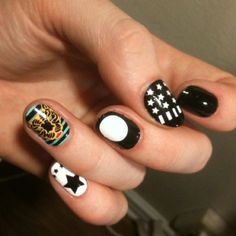 NCLA nail wraps. Picture from manicurist Madeline Poole :)