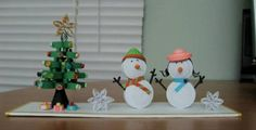 Snowmen and the x'mas tree