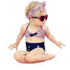 c8b59de6bb94e PrettyBaby New Korean Baby Girls Bikini Kids Girl Swimwear Baby Swimsuit  Ruffle Bow Princess Three Pieces Swim Cute swimsuit 3pcs set