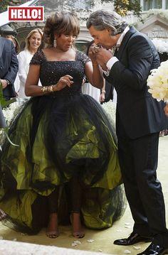 Tina Turner droeg bij haar huwelijk ook prachtig groentinten.  Tina Turner Opens Up About Her Wedding Dress And Ceremony