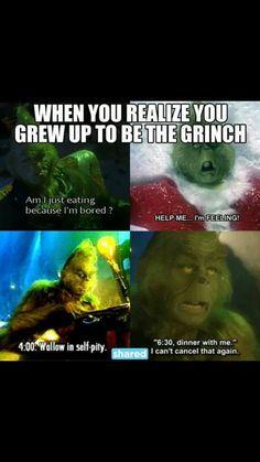 I am the grinch Dankest Memes, Funny Memes, Hilarious, Jokes, Funny Fails, Grinch Memes, The Grinch Quotes, Christmas Humor, Grinch Christmas