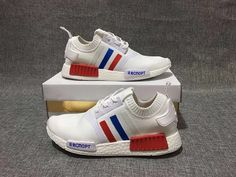 2a4d78295eb1 Official Adidas NMD WHITE BLUE RED RUNNING SHOES EUR 36-44 Hot Sale