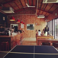 Elmers Green Coffee & Bakes, Osaka, Japan.  #cafe #interior