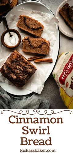 This Cinnamon Swirl Bread recipe is made lighter with the addition of cassava flour. And, it's gluten-free, vegan and filled with cinnamon sugary goodness! Baker Recipes, Vegan Dessert Recipes, Homemade Desserts, Best Bread Recipe, Bread Recipes, Cinnamon Swirl Bread, Cinnamon Recipes, Baking Flour, Gluten Free Baking