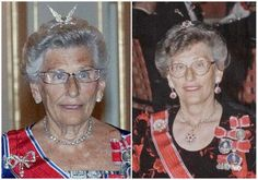 Norway's Princess Astrid's aigrette tiara. This one is usually worn jovially by Astrid with feathers on top, but it also has an alternate attachment of bug antennae ruby flowers. And just to illustrate the kind of lady we're talking about here, she's joked that she can receive transmissions from London and Moscow with her wings up top.  To me, she is the royal I most want to have a drink with.