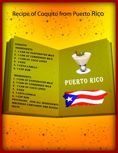 Recipe of Coquito from Puerto Rico