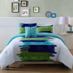 Watercolor Blue Comforter Set | from hayneedle.com