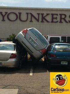 Driving Fail of the Day!  Tight parking spot.