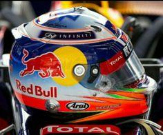 F1, Red Bull, Sebastian Vettel Helmet