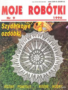 "Photo from album ""Moje robotki on Yandex. Crochet Books, Thread Crochet, Knit Crochet, Crochet Chart, Crochet Patterns, Crochet Dollies, Crochet Magazine, Views Album, Doilies"
