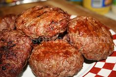Burgers stuffed with Pepper Jack cheese and brushed with an all purpose sauce.