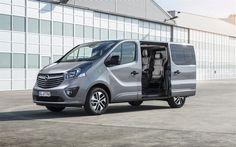 Download wallpapers Opel Vivaro Tourer, 2017, 4k, passenger minibus, new cars, new Vivaro, Opel