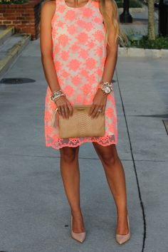 Bedazzles After Dark: Outfit Post: Neon Dress + The Impeccable Pig