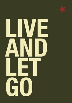 """47*70 cm poster """"Live and let go"""""""