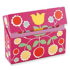 Folk Floral flip-top boxed note cards $12 for 12
