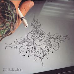 "2,024 Likes, 11 Comments - Chik.tattoo (@chik.tattoo) on Instagram: ""#mandalatattoo #mandala #flowertattoo #flowers #girltattoo #awesome #girls #girlswithtattoos…"""