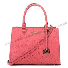 Michael Kors Tote Pink Classic Ostrich Leather