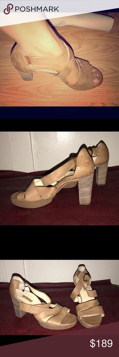 Paul Green Open Toe Heels New never used. Very comfortable . These shoes are sized differently. I wear a size 8 and they are about a half size big so an 8.5 would fit perfectly. My feet are skinny so there is some slight space in the straps! Paul Green Shoes Heels