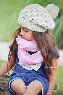 This is a PDF crochet pattern for a uniquely textured chunky slouch hat in 5 sizes.