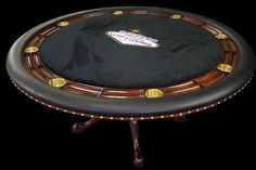 Banish your worn out folding poker table and upgrade to a gaming table your man cave deserves! You can design your own table on Stine's website and expect to pay a base estimate of $2,500.
