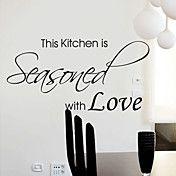 Seasoned with Love Wall Sticker – USD $ 29.99