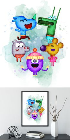 Hey Duggee and friends Print, Hey Duggee art, Hey Duggee Poster, Hey Duggee Printable bedroom nursery Birthday DIGITAL Download Room Themes, Party Themes, Art For Kids, Crafts For Kids, Watercolor Disney, Baby Boy Rooms, Baby Scrapbook, Nursery Inspiration, Baby Room Decor