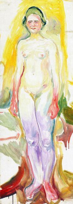 Edvard Munch - 1922/23, Standing Nude. Munch-museet Oslo