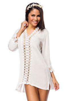 Tunika - weiß | Sommerkleider | Kleider & Röcke | BEKLEIDUNG | FRAUEN | 701 FASHION