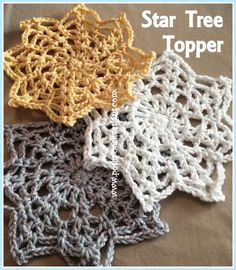 "Posh Pooch Designs Dog Clothes: How to ""Yarn Bomb"" A Star - Star and Snowflake Crochet Pattern 