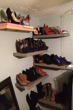 Great shoe storage idea!