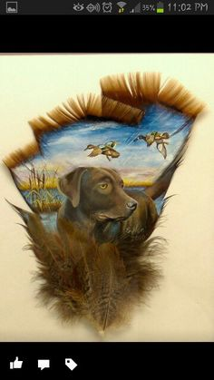 Hand painted turkey feathers. Countryclassicoils.com