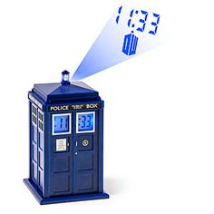 Doctor Who TARDIS Projection Alarm Clock.